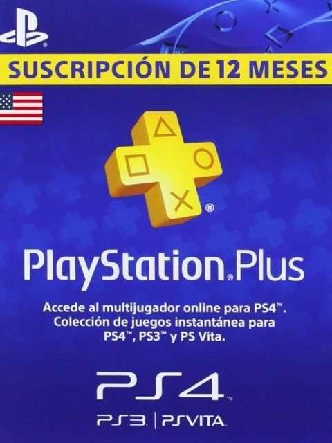 Playstation Plus 1 Año Codigo USA