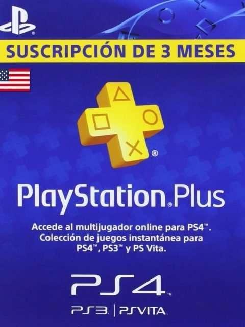 Playstation Plus 3 Meses Codigo USA
