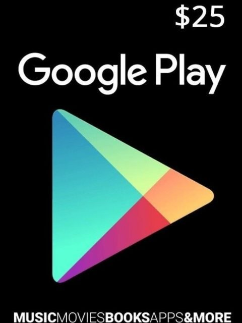 Tarjeta Google Play 25 Usd Usa Original