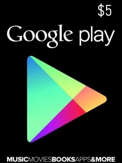 Tarjeta Google Play 5 Usd Usa Original