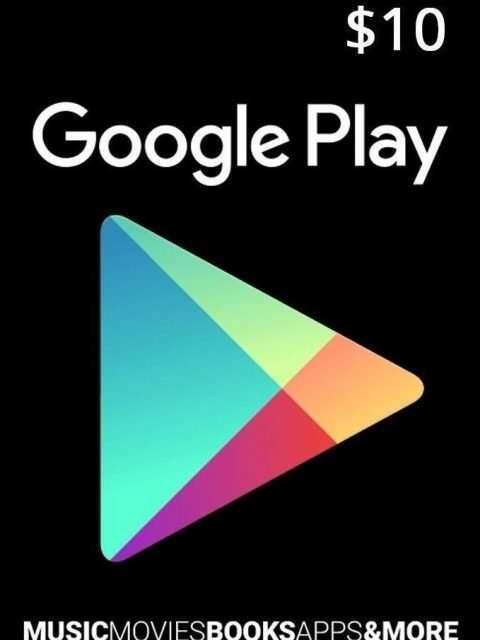 Tarjeta Google Play 10 Usd Usa Original