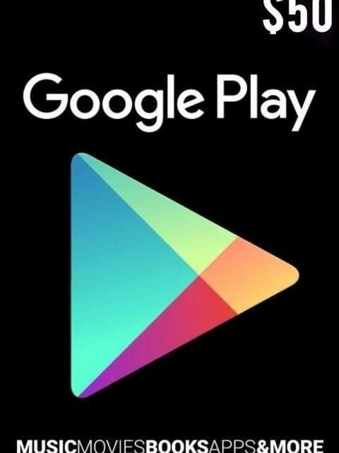 Tarjeta Google Play 50 Usd Usa Original