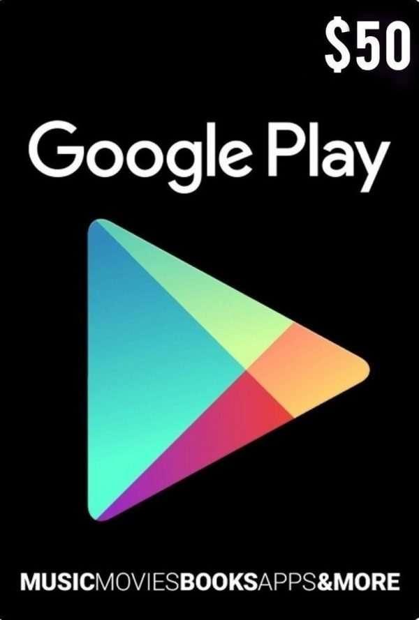 Tarjeta Google Play 50 Usd Usa Original – Web Game
