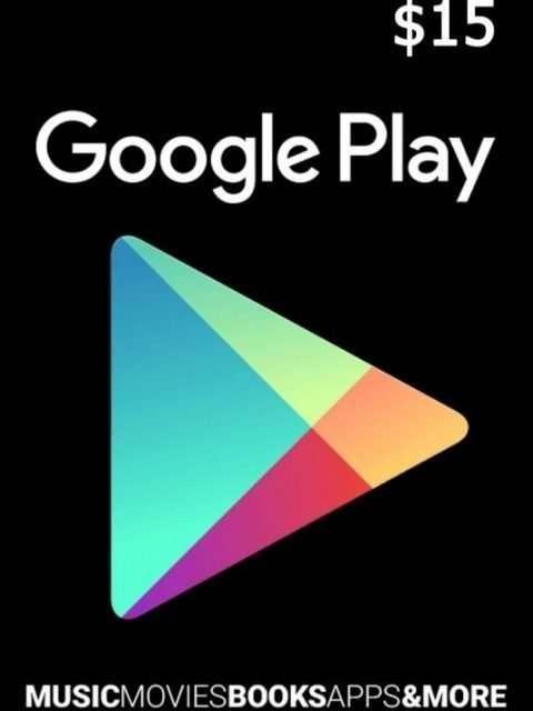 Tarjeta Google Play 15 Usd Usa Original
