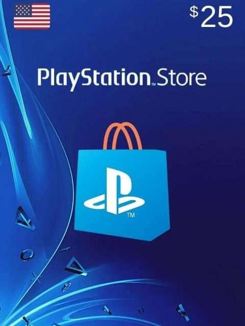 Tarjeta Playstation Network 25 USD PSN USA